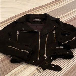 Zara faux suede moto jacket. XS